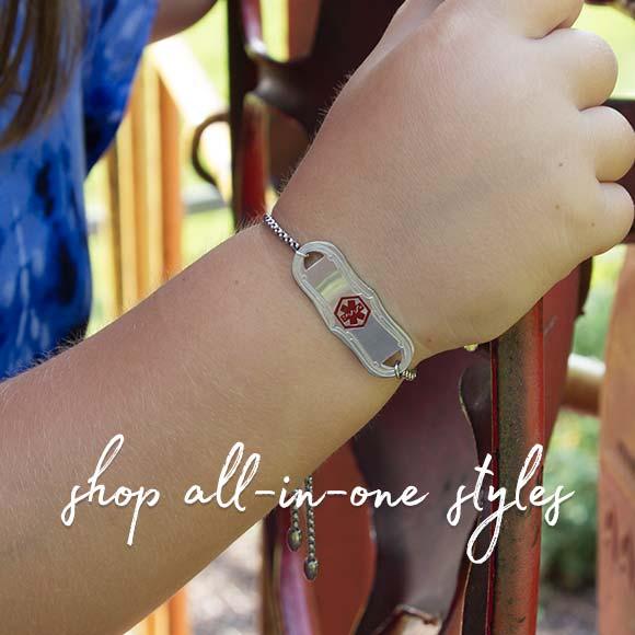 Girls' Non-Interchangeable Medical ID Bracelets