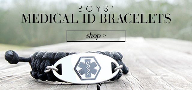 Boys Medical ID jewelry