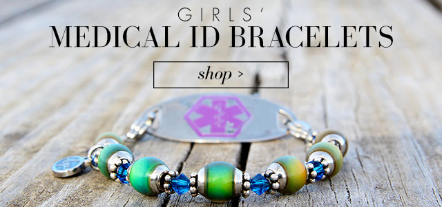 Girls Medical ID Alert Bracelet