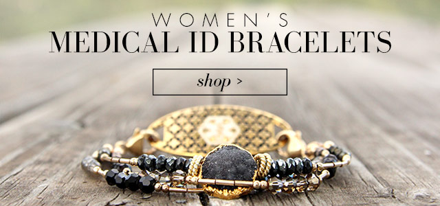 Womens Medical Alert Bracelets and Jewelry
