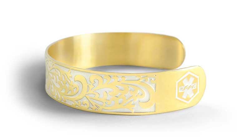 Gold Medical ID Bracelets