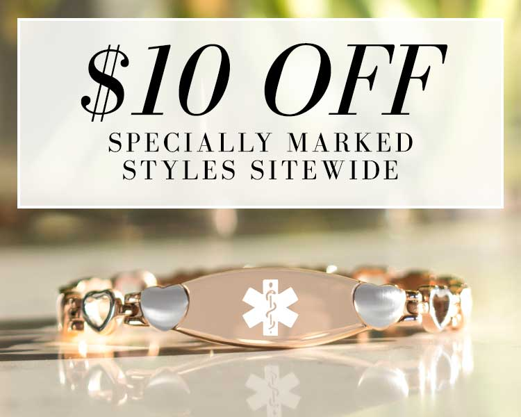 $10 OFF SPECIALLY MARKED STYLES SITEWIDE