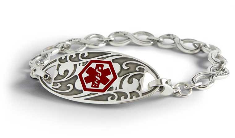 Silver Medical ID Bracelets