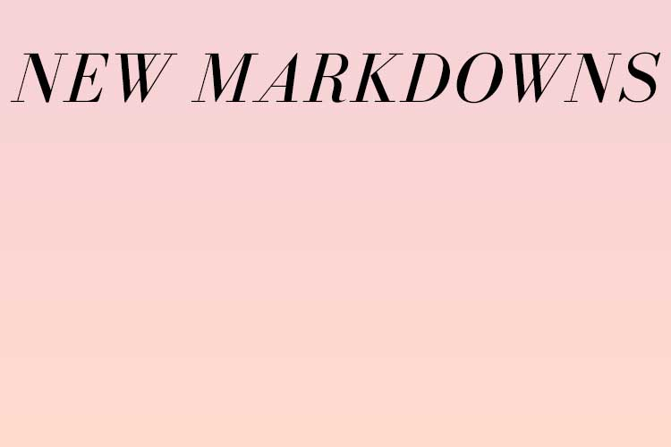 NEW MARKDOWNS on gradient pink background