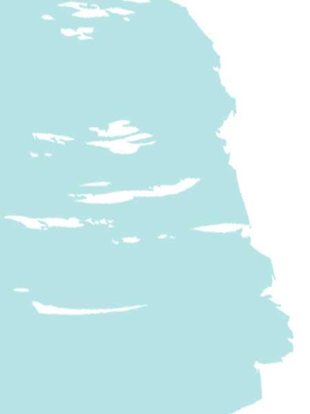 Blue paint swash background element