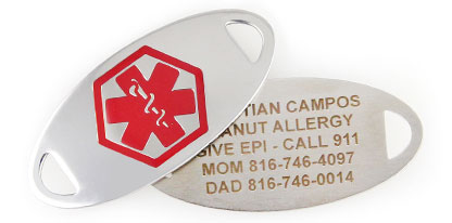 FOOD ALLERGY ALERT MEDICAL ID JEWELRY