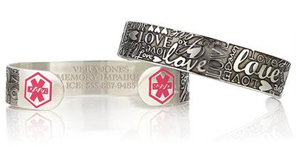 MEMORY IMPAIRMENT AND MEMORY LOSS MEDICAL ID JEWELRY
