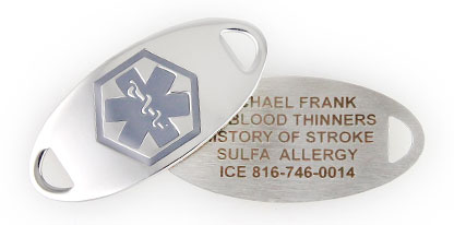 BLOOD THINNER MEDICAL ID JEWELRY