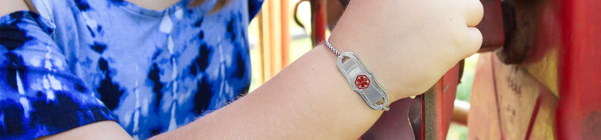Medical ID Bracelets For Morphine Allergy