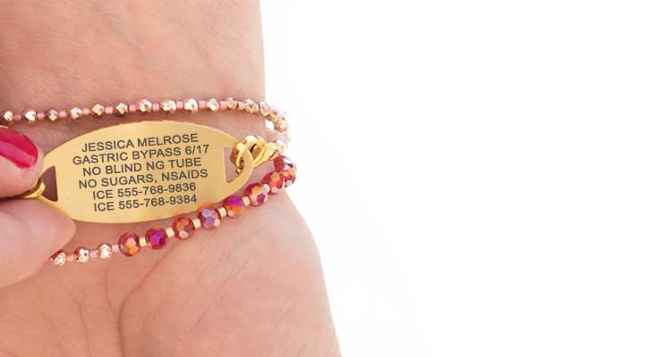 Medical ID Jewelry For Weight Loss Surgery