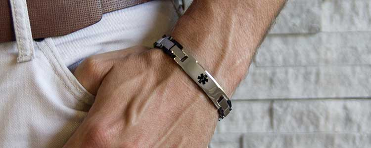 Penicillin Allergy ID Jewelry For Men