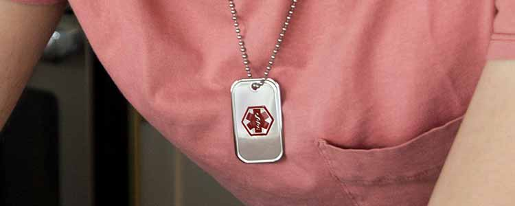 Type 1 Diabetes ID Jewelry For Men