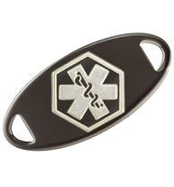Gunmetal Medical ID Tag