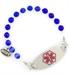 Dark Blue Fiber Optic Medical ID Bracelet