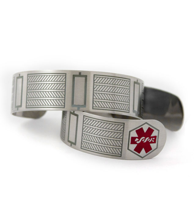 Cable Cuff Medical ID Bracelet