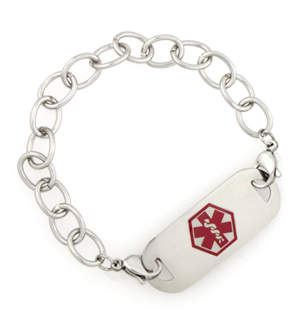 Cross Trainer Medical ID Bracelet with Tag