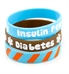 Diabetes/Insulin Pump Brown and Blue Silicone Bands