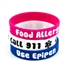 Food Allergy/Epipen Pink Silicone Medical Bands