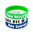 Food Allergy/Epipen Green Silicone Medical Bands