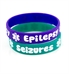 Epilepsy/Seizures Teal Silicone Medical Bands