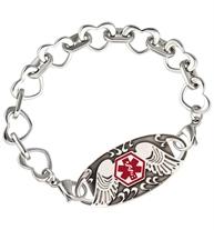 Love  Always Stainless Medical Alert Bracelet | Lauren's Hope