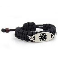 Trooper Paracord Medical ID Bracelet | Lauren's Hope