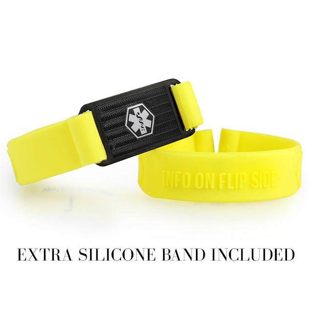 Yellow ActiveWear Silicone Medical Alert Band
