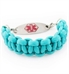 Sea Breeze Interchangeable Paracord Medical Alert Bracelet with Tag