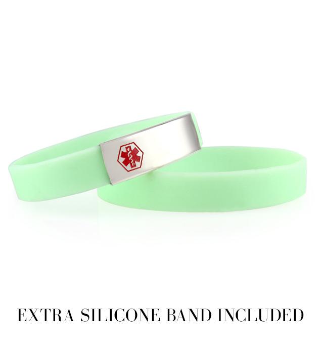 Mint ActiveWear Slim Medical ID Bracelet