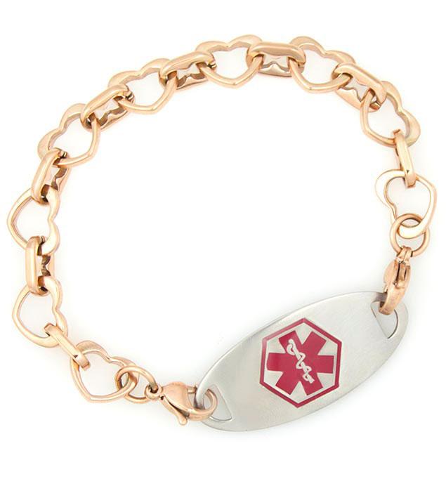 Rose Tone Love Always Medical ID Bracelet