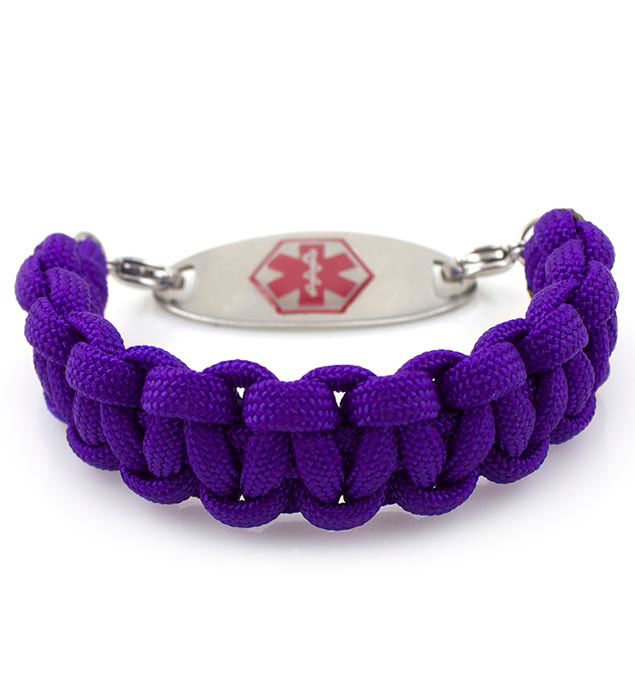 Betty Interchangeable Paracord Medical Alert Bracelet With Tag