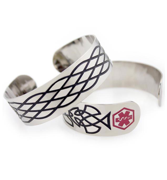 Clancy Medical Alert Cuff Bracelet For Men