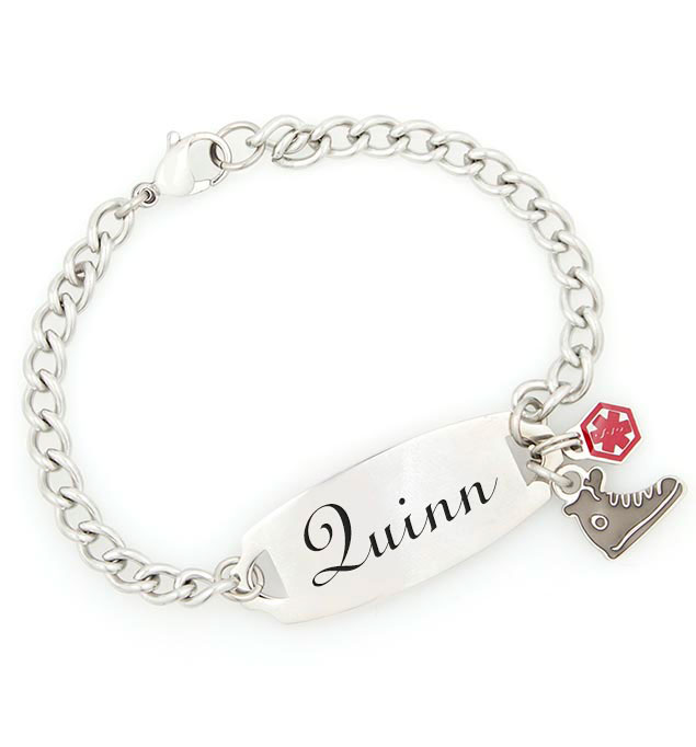 Fontsy with JDRF Charm Medical ID Bracelet