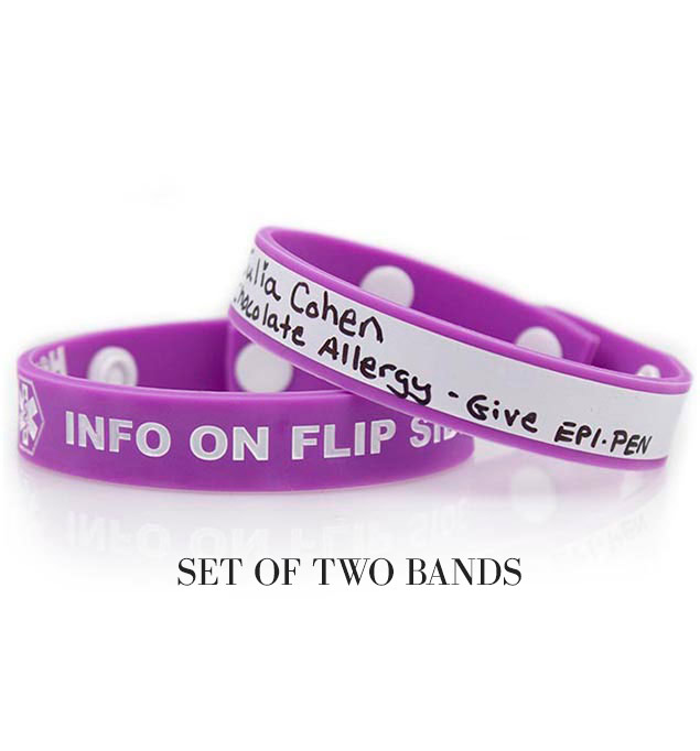 Purple Write-On Medical ID Wristband