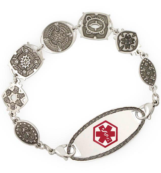 Treasure Trove Medical ID Bracelet with oval border tag