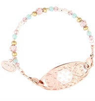 Lucy Medical ID Bracelet with Rose Tone Tag