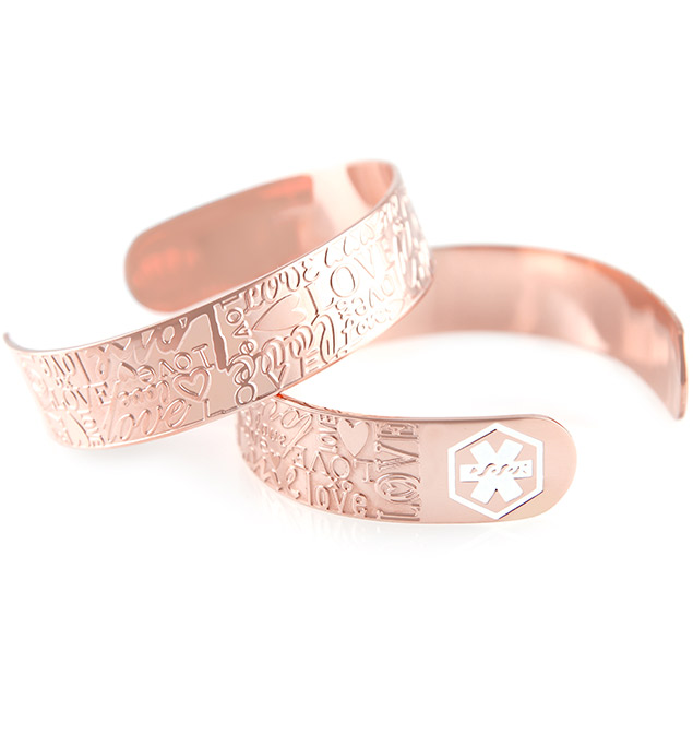 Rose Gold Tone Love Cuff