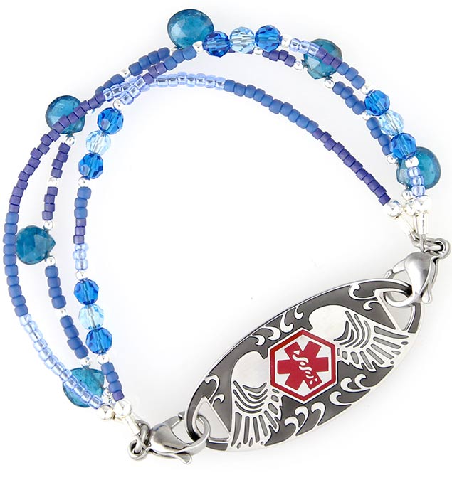 Avery's Hope Medical ID Bracelet with Guardian Angel Tag