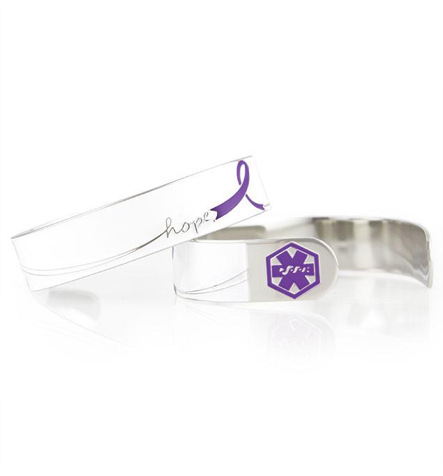 Purple Hope Medical ID Cuff