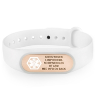 SportFit Tech Med ID Band in White