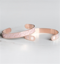 Ziza Med ID Cuff in Blush and Rose Tone