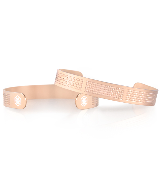 Nessa Mini Med ID Cuff in Rose Tone