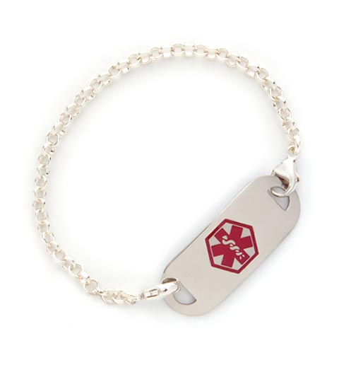 Rolo Chain Medical Alert Bracelet