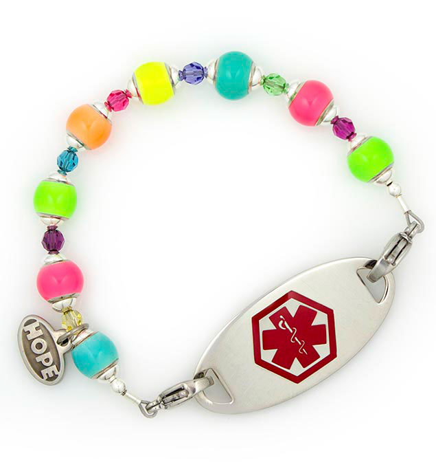 Bright Lights Glow In The Dark Medical ID Bracelet