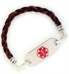 Variegated Dark Brown Medical ID Bracelet