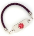 Purple Distressed 4MM Bolo Medical ID Bracelet