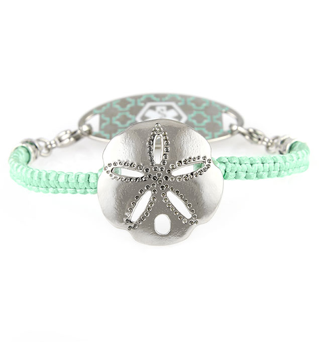 Sand Dollar Beach Medical ID Bracelet