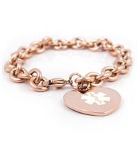 Rose Tone Tiffany Medical Alert Bracelet