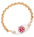 Rose Gold Tone Rolo Medical ID Bracelet For Women with Medical ID Tag