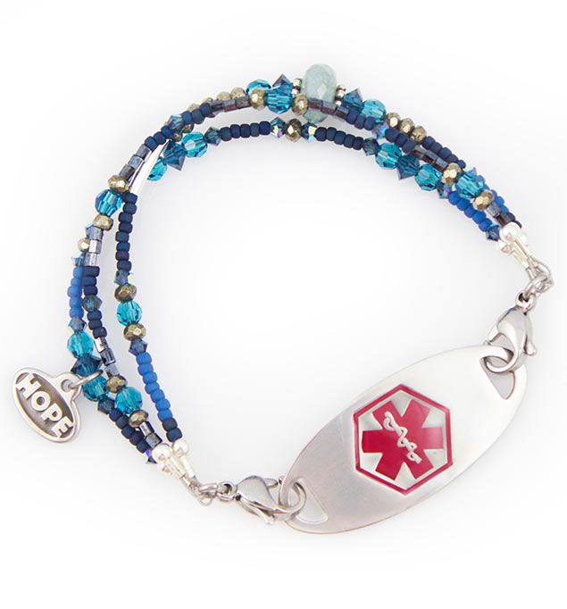 Midnight Moon Medical ID Bracelet for Women